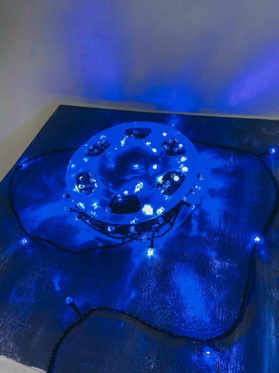 Гирлянда «Катушка» 50 метров, Синего цвета