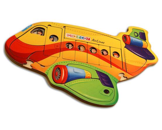 """Пазл """"Воздушный лайнер"""" - игрушка из дерева"""